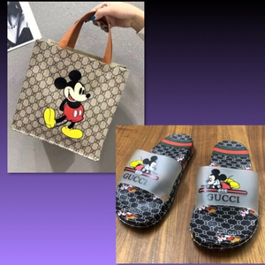 Used DESIGNER PU MINNIE BAG& SLIPPER /36-37 in Dubai, UAE