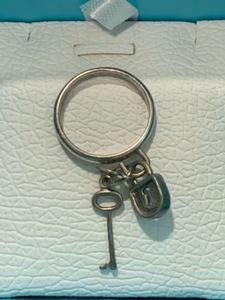 Used Real silver 925 with 3 lucky charms ring in Dubai, UAE