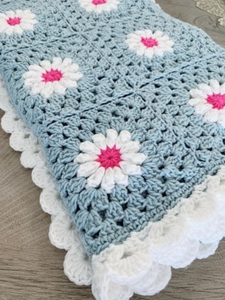 Used Handmade blanket with flowers  in Dubai, UAE