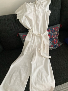 Used Zara white denim jump suit , dress  in Dubai, UAE