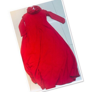 Used Red Long Dress L/XL ♥️ in Dubai, UAE
