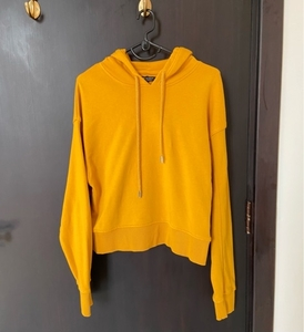 Used Bershka Mustard Yellow Hoodie in Dubai, UAE