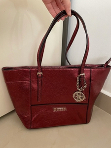 Used Authentic New Guess Red tote Bag in Dubai, UAE