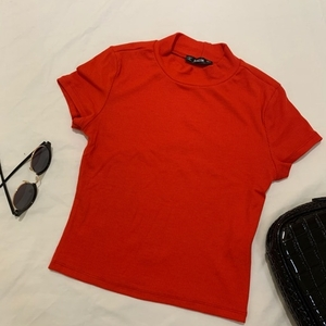 Used Red Ribbed Top in Dubai, UAE