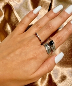 Used Feather shaped silver ring  in Dubai, UAE