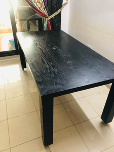 Used Black dining table with 4 wheels in Dubai, UAE