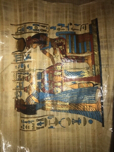 Used Papyrus hand made paintings 4 pcs in Dubai, UAE