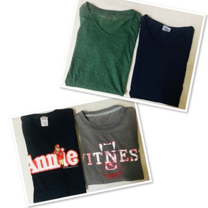 Used 4 PCs Tee shirt unisex  / Small ♥️ in Dubai, UAE
