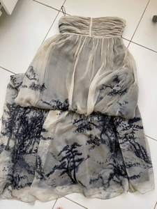 Used Long strapless dress from zara in Dubai, UAE