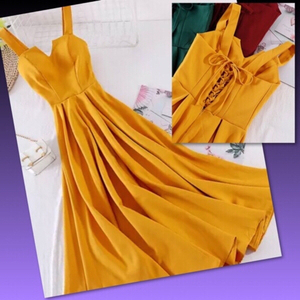 Used CHIC BACK DRAWSTRING DRESS/Medium  in Dubai, UAE