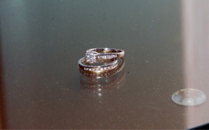 Used Diamond engagement twin rings in Dubai, UAE