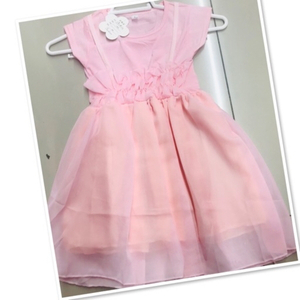 Used Peach kids dress size 1-2 yr old ♥️ in Dubai, UAE