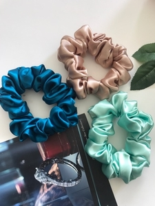 Used Satin Hair Scrunchie 3 set  in Dubai, UAE