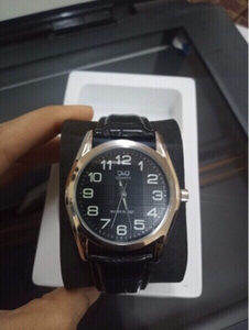 Used Q&Q Japanese brand men business watch in Dubai, UAE