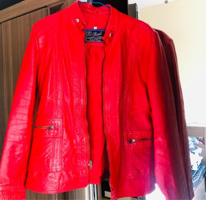 Used Red Leather Jacket in Dubai, UAE