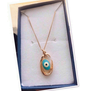 Used 18k Gold Plated Evil Eye 🧿 necklace ♥️ in Dubai, UAE