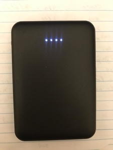 Used Power bank 5000mAh black  in Dubai, UAE