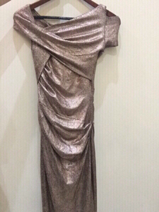 Used Talbot Runhof new size 4 rose gold dress in Dubai, UAE