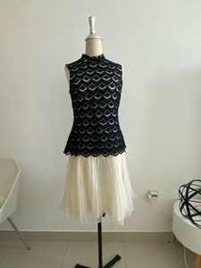 Used Lace pleated vintage cute party dress M in Dubai, UAE