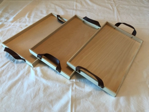 Used Wooden trays and stand combo deal in Dubai, UAE
