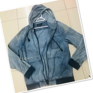 Used Soft Denim faded Hoodie size / Medium  in Dubai, UAE