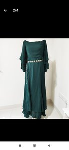 Used Zalia Green Long Dress with Belt in Dubai, UAE