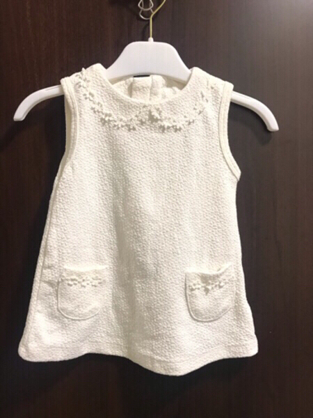 Used Preloved Girl Dress 6 to 12 months White in Dubai, UAE