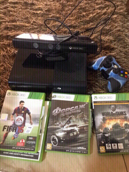 Used Xbox 360+kinect+one controller +4orignal in Dubai, UAE