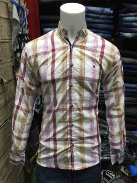 Used Light pink big checks shirt in Dubai, UAE