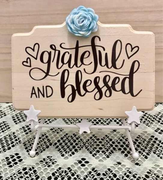 Used Grateful and blessed Wood Sign in Dubai, UAE