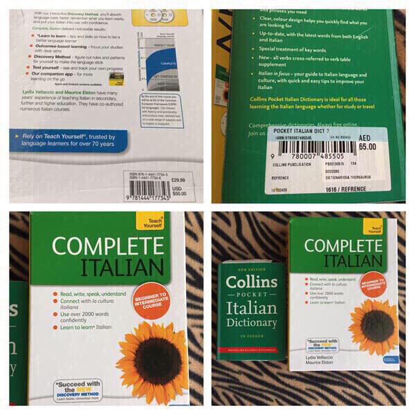 Used Dictionary and CD to learn Italian in Dubai, UAE