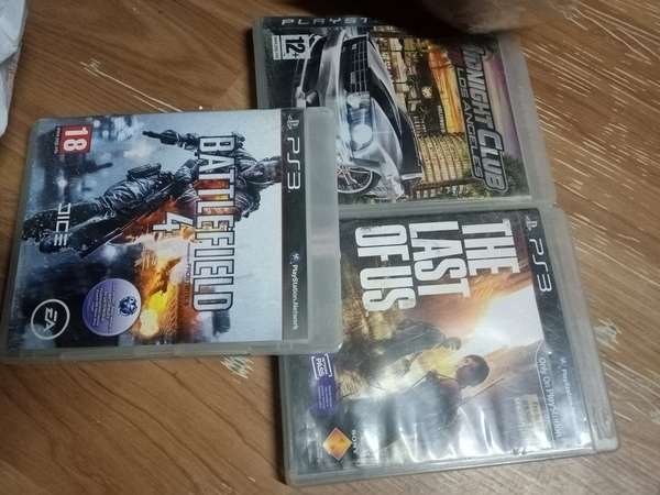 Used Ps3 midnight club+battlefield4+the last in Dubai, UAE