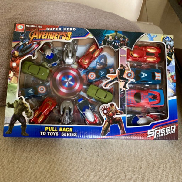 Used Avengers Pull Back Cars (14 pcs) in Dubai, UAE