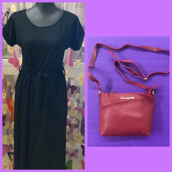 Used Casual Dress + Crossbody Bag in Dubai, UAE