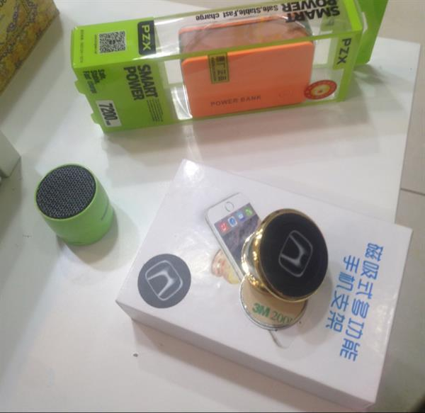 Used Bundle Offer: Mini Bluetooth Speaker. Magnetic Car Holder. 7200 Mah Power Bank. All Brand New High Quality  in Dubai, UAE