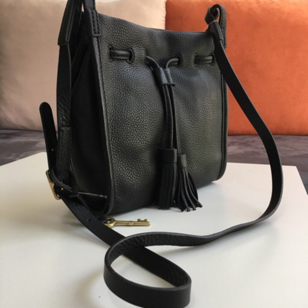 Used Original Fossil Black Sling Bag in Dubai, UAE