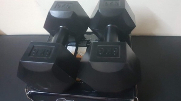Used Dumbbells UPvc One left in Dubai, UAE