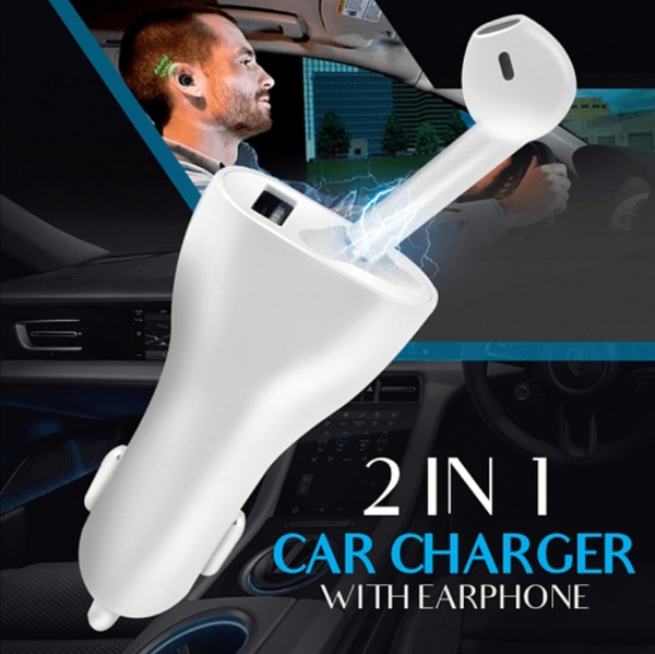 Used New 2 in 1 USB car charger with earpod in Dubai, UAE