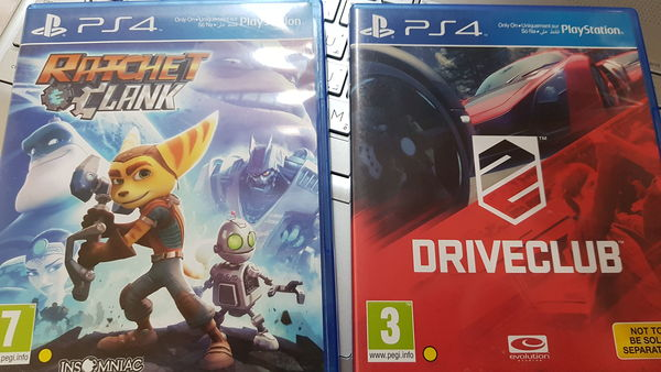 Used PS4 games drive club and Ratchet in Dubai, UAE