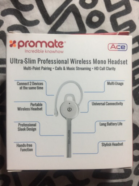Used  Promate Wireless mono Headset in Dubai, UAE