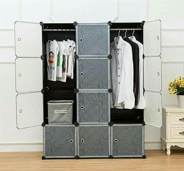 Used Diy customizable 12 cube Wardrobe /cabinet /organiser?made Of Plastic in Dubai, UAE