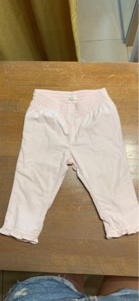 Used Baby pants Benetton pink 9-12 months in Dubai, UAE