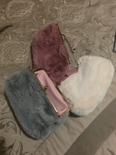 Used 👛3 Faux Fur bags👛 (new) in Dubai, UAE