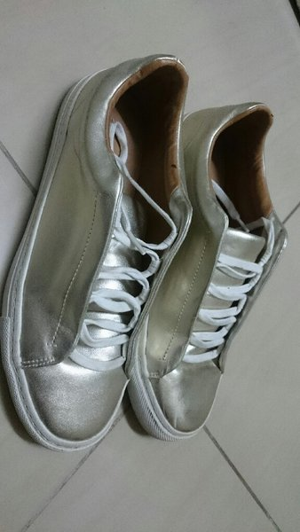 Used Zara Metallic Gold Shoes in Dubai, UAE