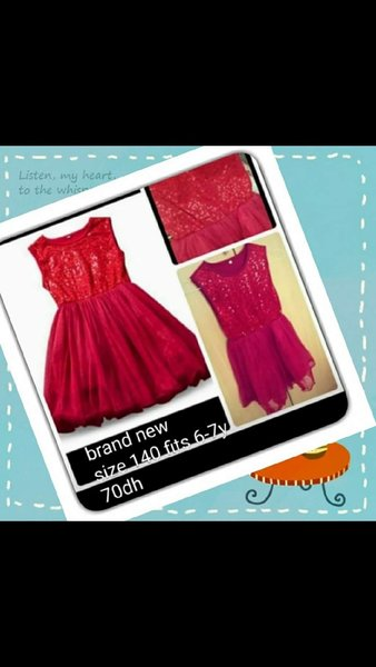 Used BRAND NEW dress size 140 in Dubai, UAE