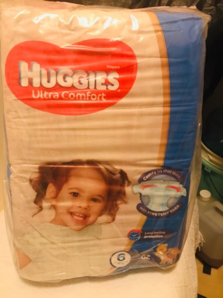 Used Huggies Diapers(2 pieces) in Dubai, UAE