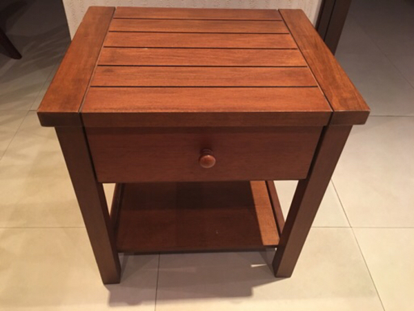 Used Side table solid wood new never used in Dubai, UAE