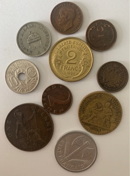 Used Lot of 10 old coins in Dubai, UAE