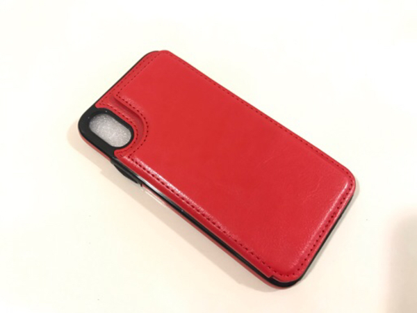 Used NEW iPhone Case with pocket X/XS Red in Dubai, UAE