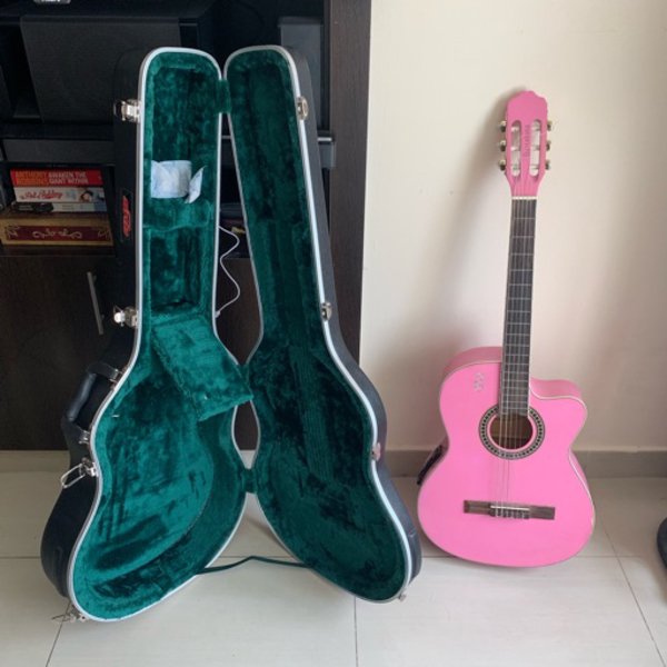 Used Classical Guitar with Hard Case in Dubai, UAE